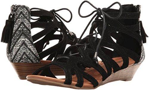 Minnetonka Women's Merida III Black Suede/Black Kasbah Fabric 5 M US 2m0mEFdM9Y