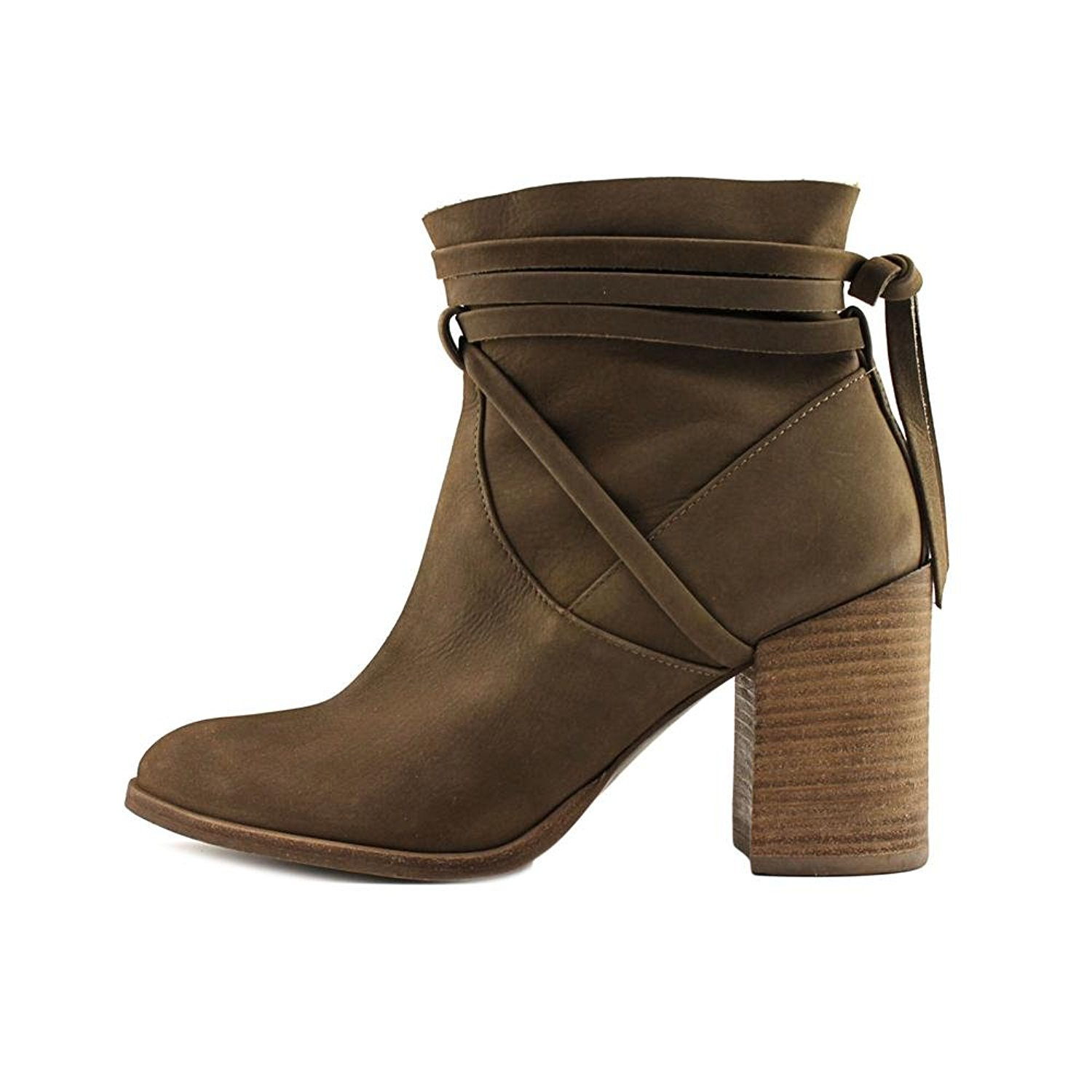 Womens Percy Leather Almond Toe Ankle Fashion Boots