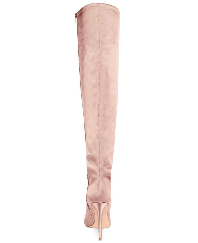 04350d962cf Aldo Womens Cherisse-44 Satin Peep Toe Over Knee Fashion Boots