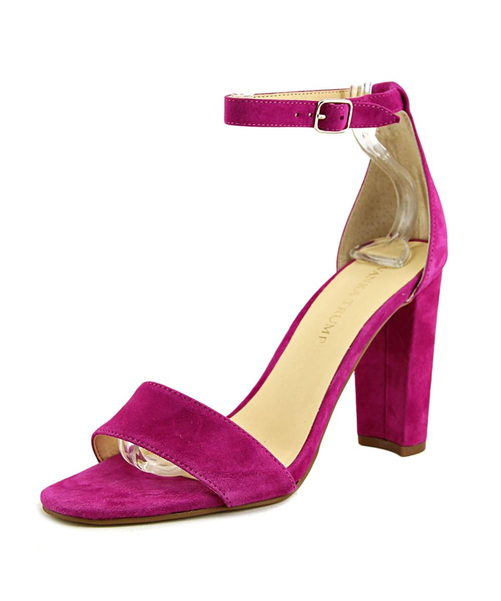 Ivanka Open Trump Donna Emalyn Suede Open Ivanka Toe Casual Ankle Strap Sandals d861dc