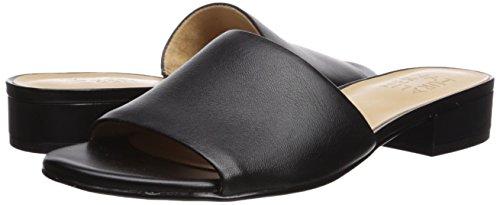 2f25a2cdc9ea Naturalizer Womens Mason Leather Open Toe Casual Slide Sandals ...