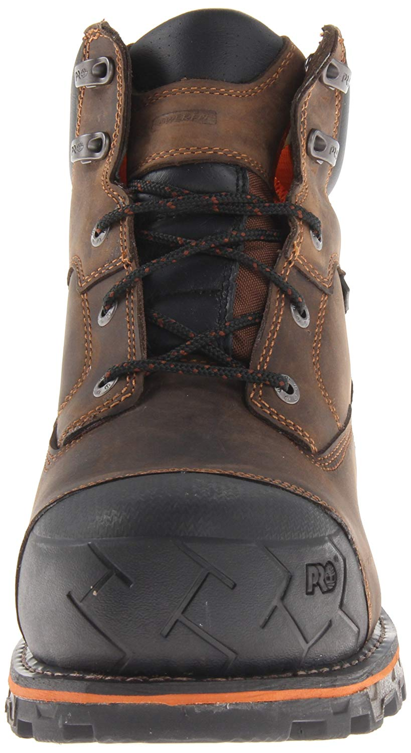 Pro 8 Inch Boondock Composite Toe Waterproof Industrial Work Boot,brown Oiled Distressed Leather,8 M Us