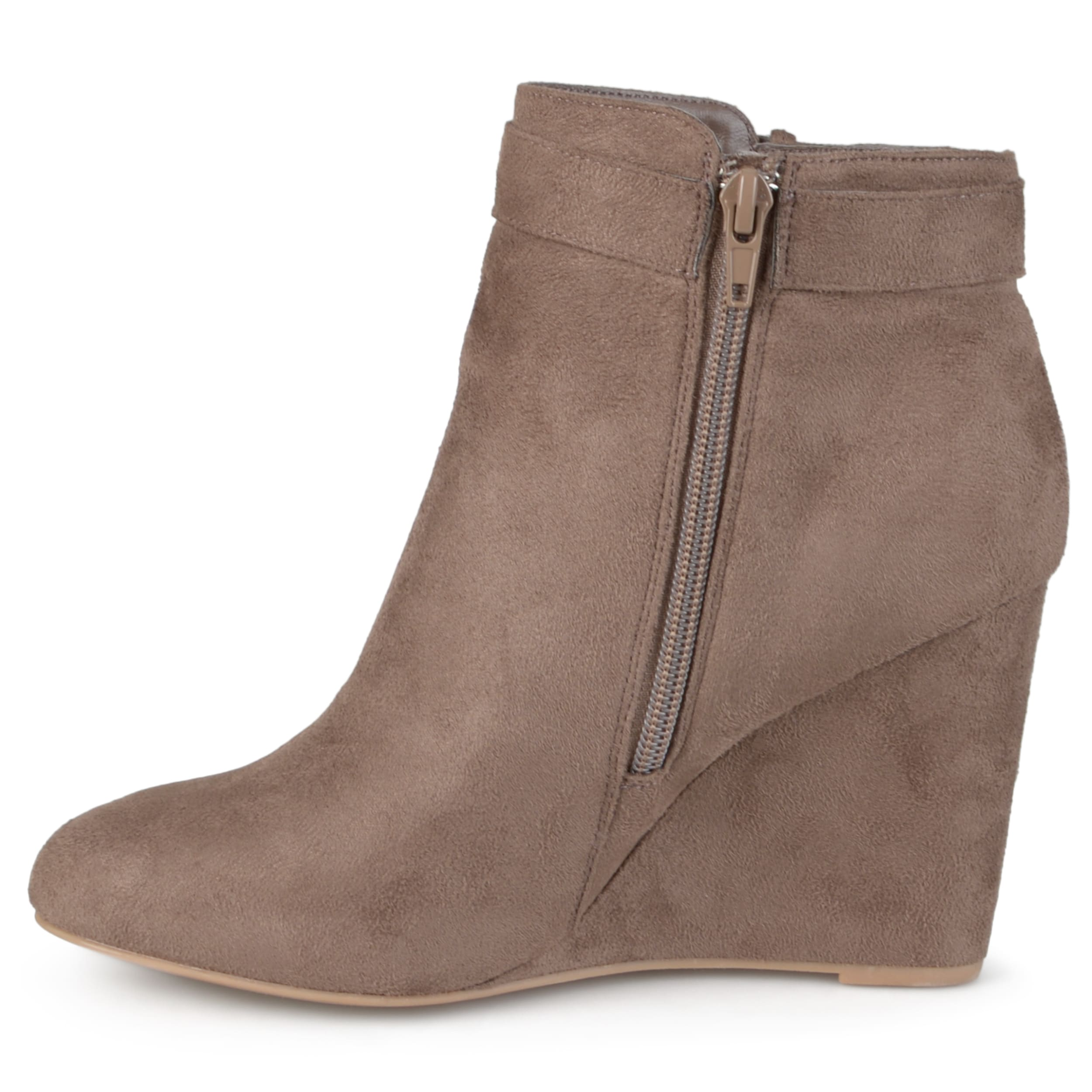 e9aec643ade1d3 Details about Journee Collection Womens Gia Suede Closed Toe Ankle Fashion  Boots