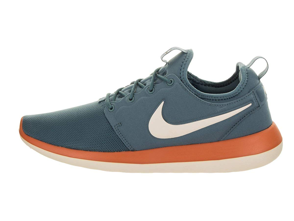 d8fb9c14ab3c Nike Mens Mens Roshe Two Running Shoes Low Top Lace Up Trail Running .