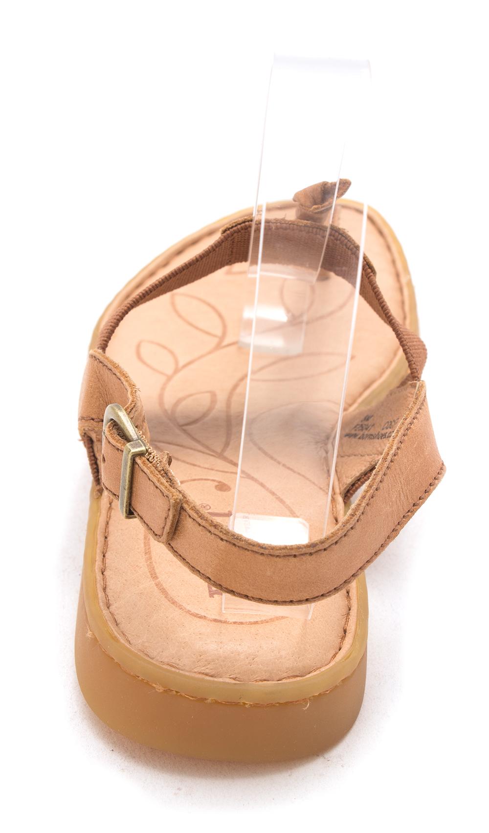 B.O.C Damenschuhe Siri Leder Open Toe Casual Slingback Sandale