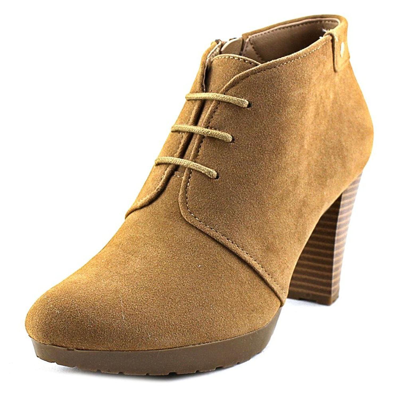 Giani Bernini Womens Odele Suede Almond Toe Ankle Fashion, Caramel, Size 9.0