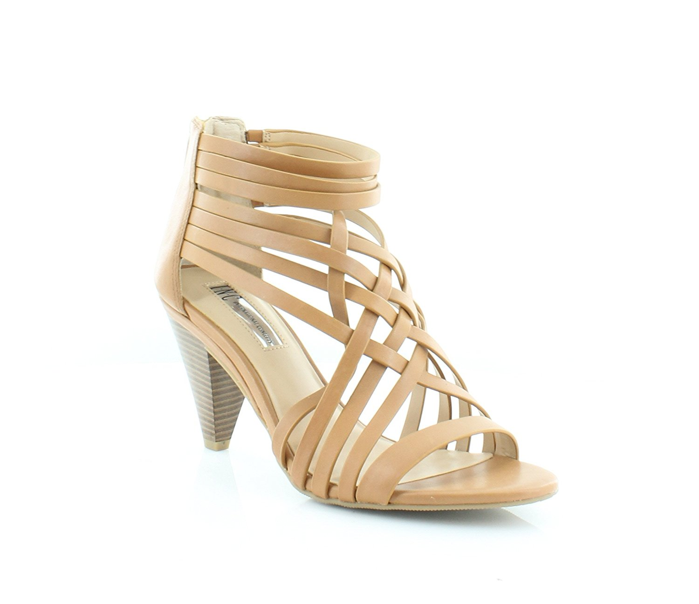 INC International Concepts Toe, Damenschuhe garoldd Leder Open Toe, Concepts Honey ... e74098