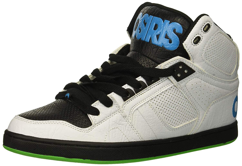 ab3cc420dd908 Details about Osiris Men's NYC 83 CLK Skate Shoe, White/Black/Cyan, Size 7.5