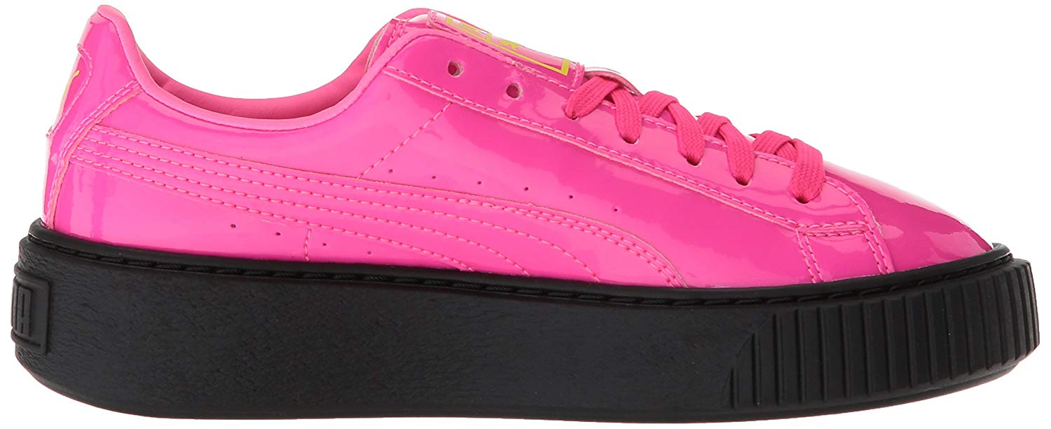 d62ba7aec905 Puma Basket Platform Block Jr Girls Athletic Shoes Knockout Pink ...
