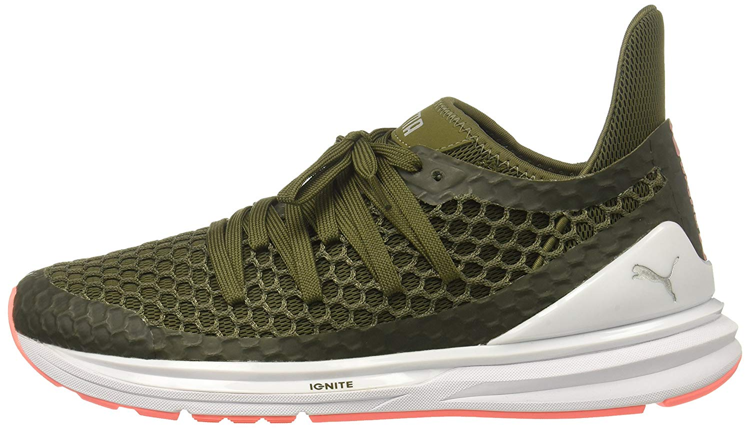 Details about PUMA Women's Ignite Limitless Netfit Wn, Olive Night nrgy Peach, Size 11.0