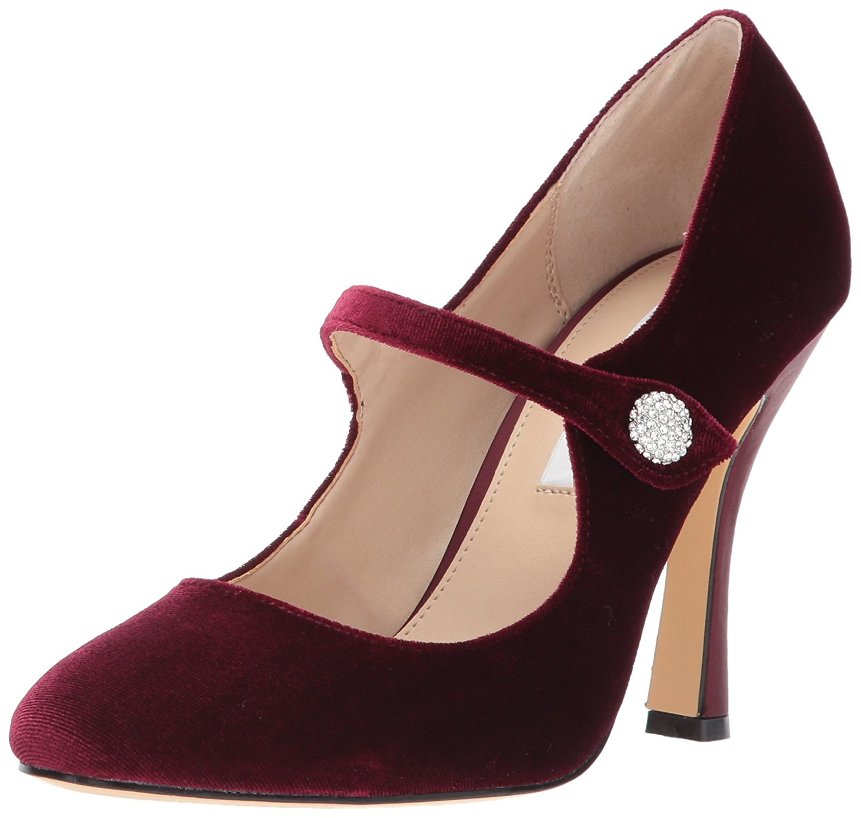 Nina Womens Idette Closed Toe Mary Jane Pumps Merlot Size 8.0