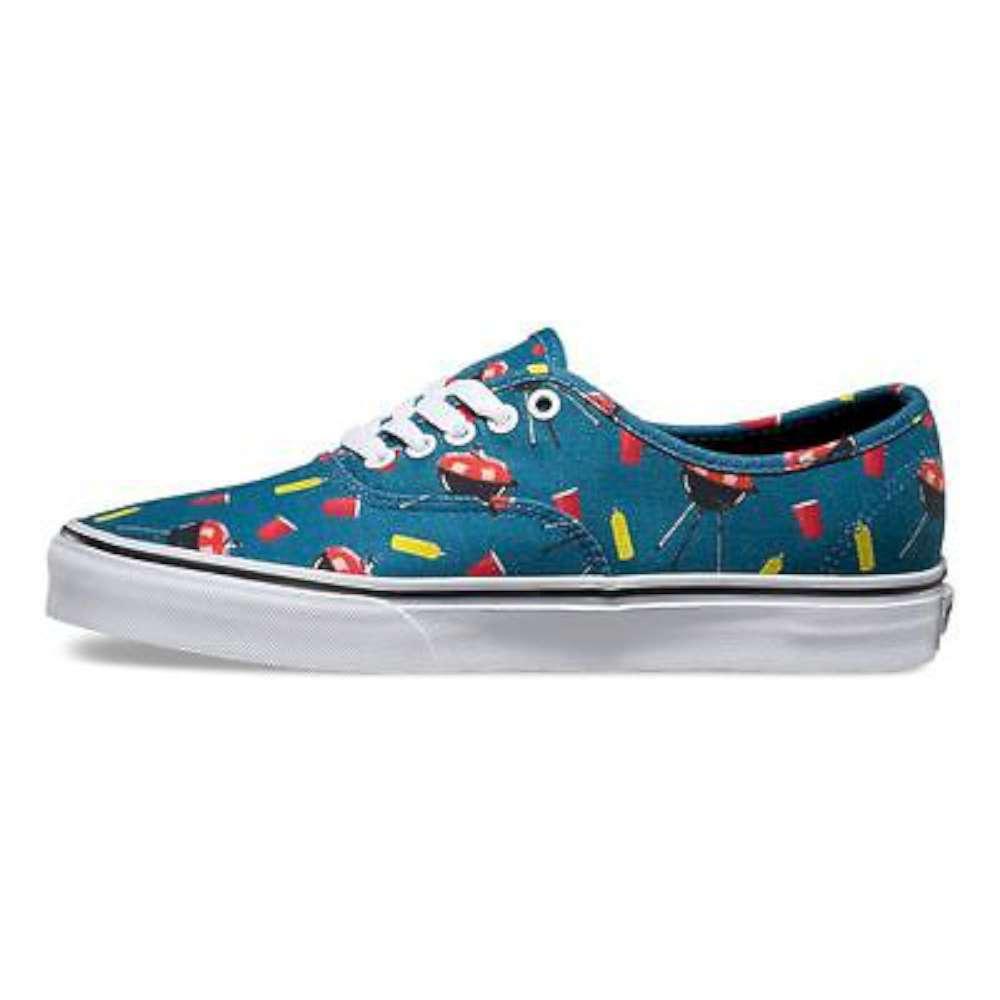 Vans Mens Authentic Canvas Low Top Lace Up Skateboarding Shoes