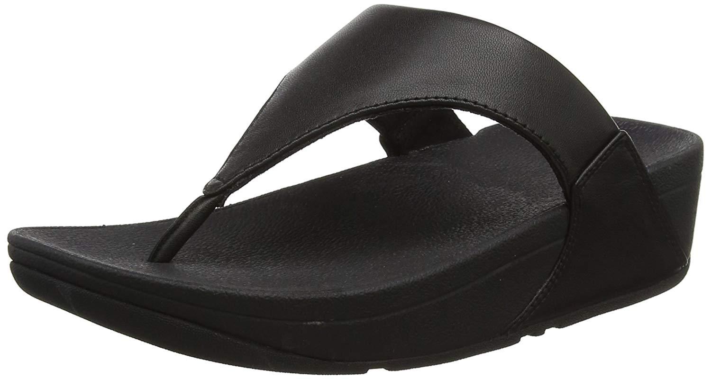 Details about FitFlop Women's Lulu Thong Sandal, Black, Size 7.0 STLI