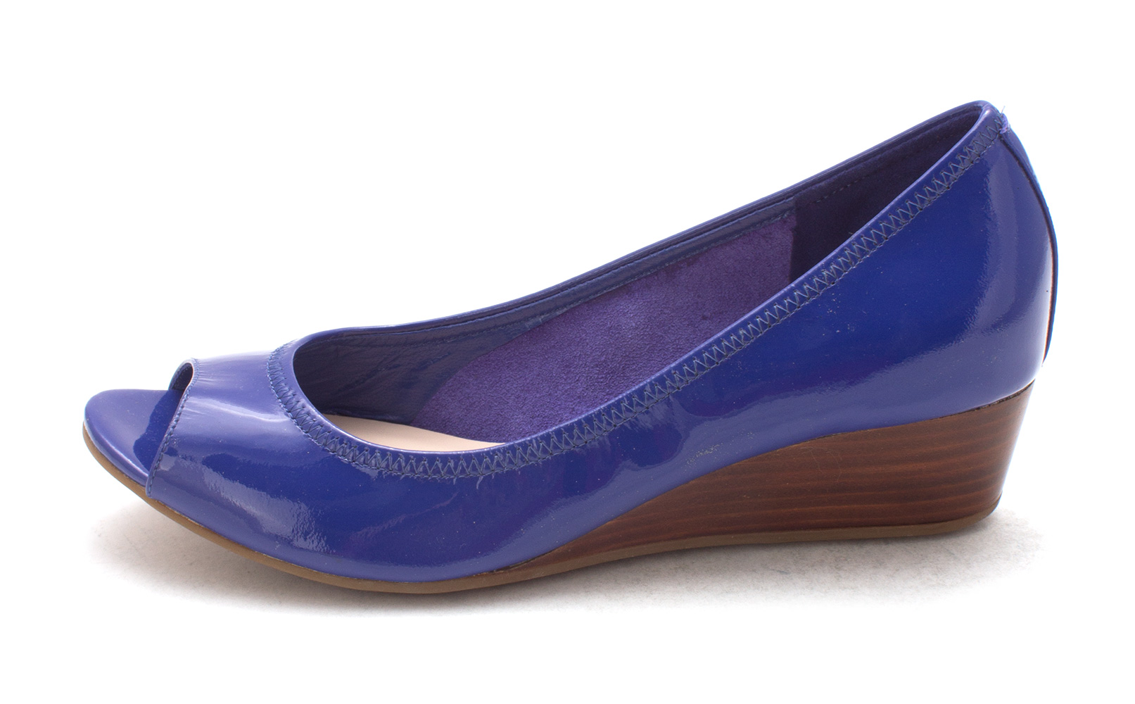 Cole Haan Womens Madysam Peep Toe Ankle Wrap Wedge Pumps Blue Size 6.0