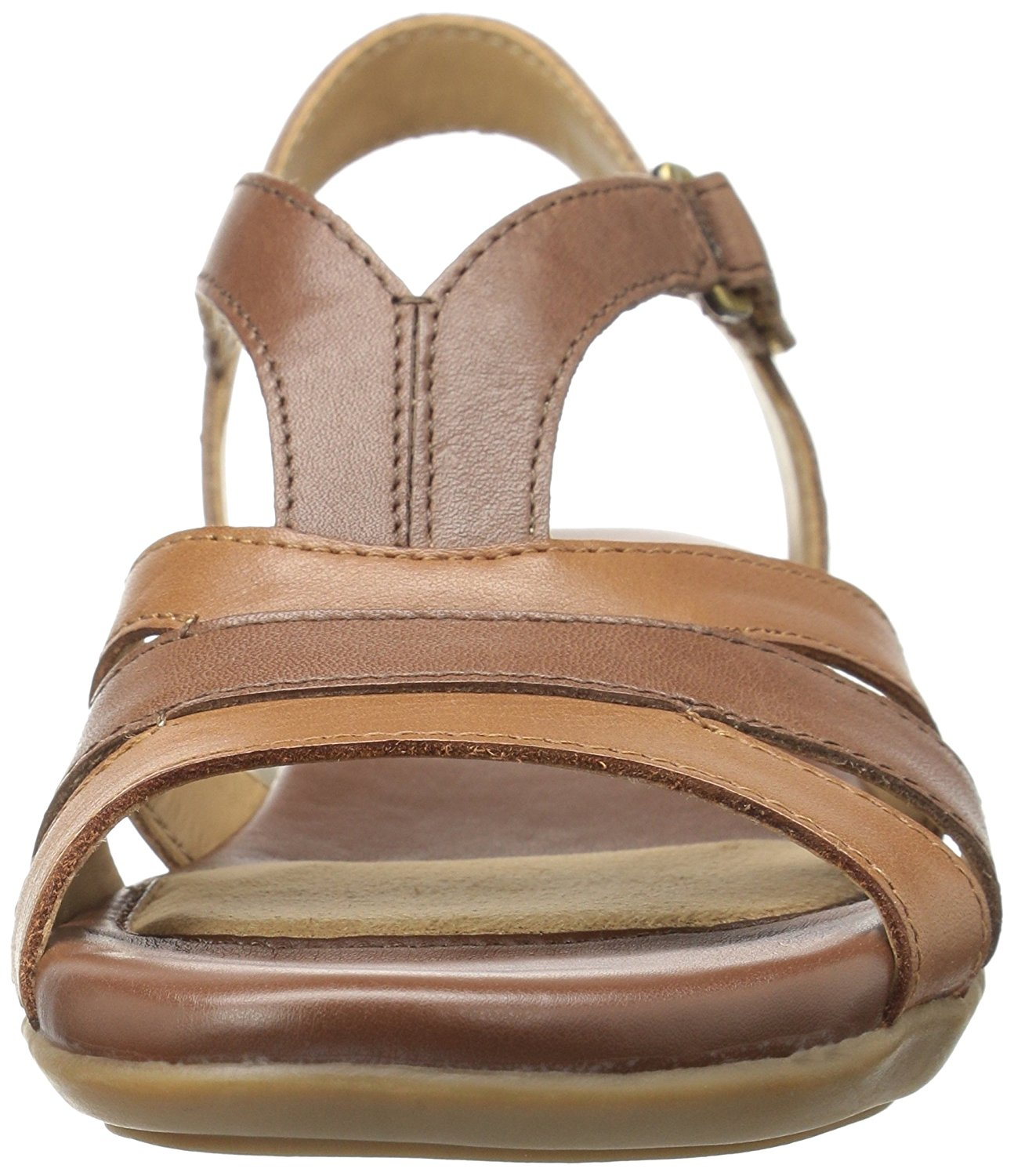 Naturalizer Donna Neina Pelle Open Casual Toe Casual Open Ankle Strap, Brown, Size 7.5 144f8d