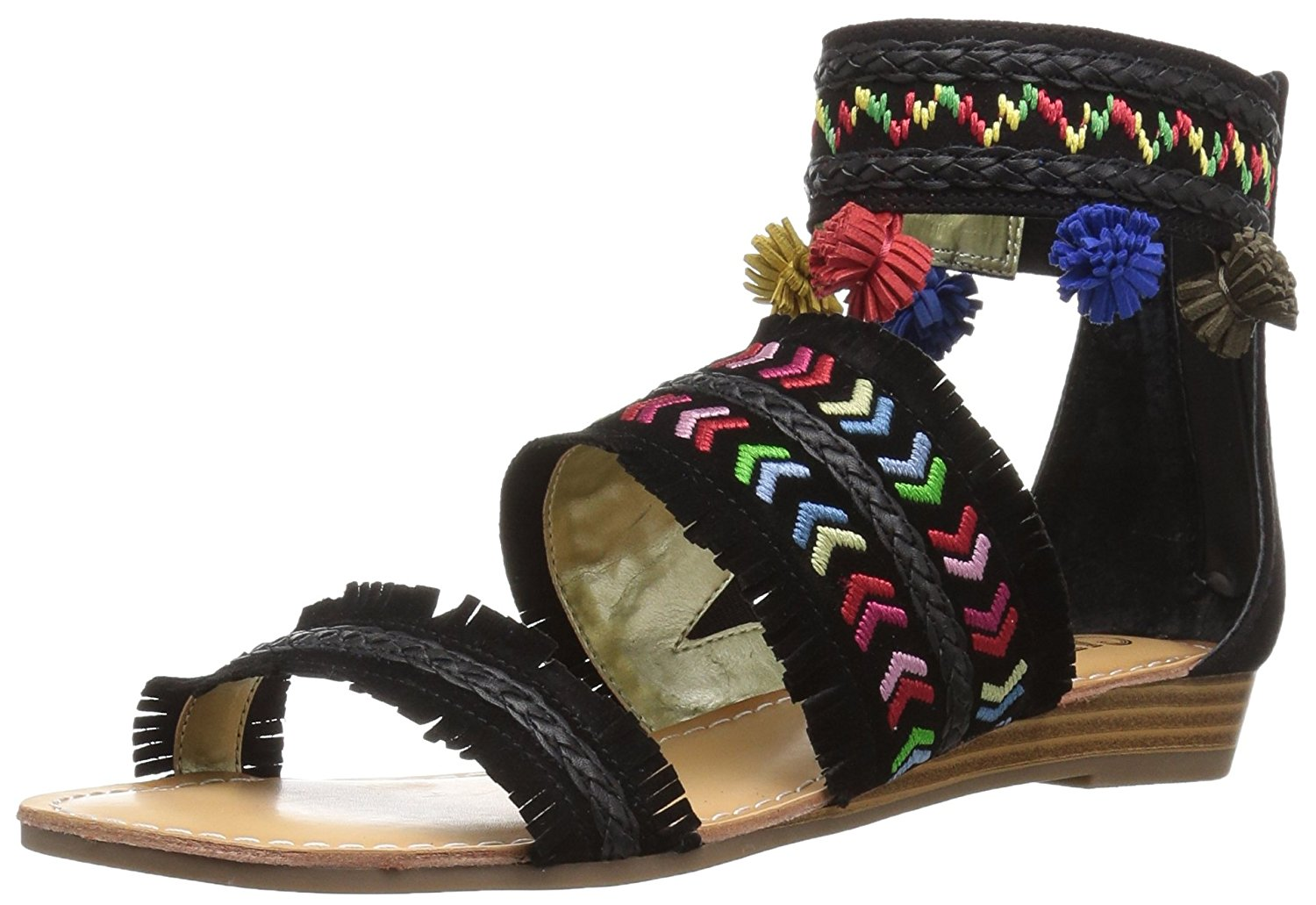 Carlos by Carlos Santana mujer mujer mujer Tangier Leather Open Toe Casual Ankle Strap S...  moda