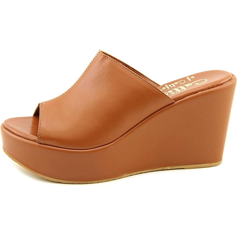 Callisto Womens Maeve Open Toe Casual Platform Sandals Cognac Size 6.5