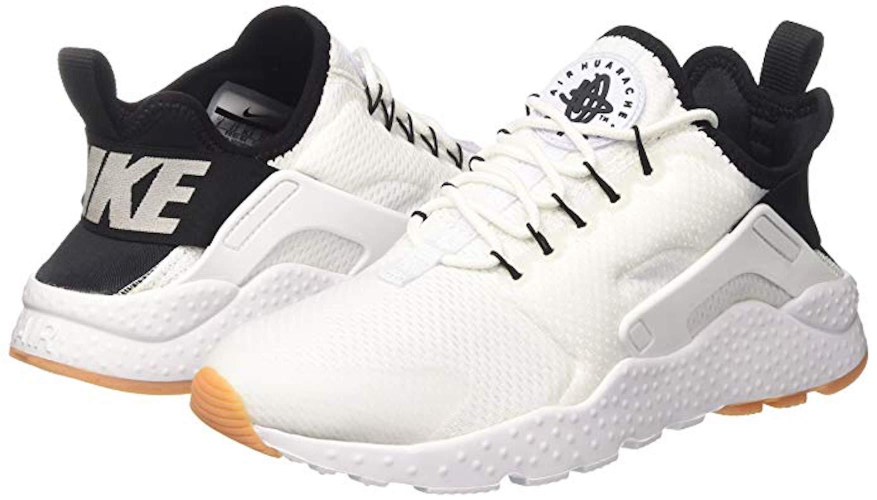 new arrivals 24c83 02630 Nike Womens Air Huarache Run prm Low Top, White Black-Gum Yellow-White,  Size 9.5