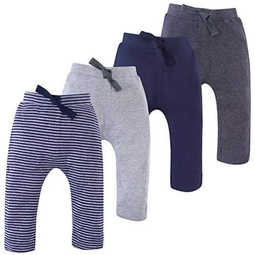 Navy and Gray 4-Pack Touched By Nature Boy Organic Harem Pants
