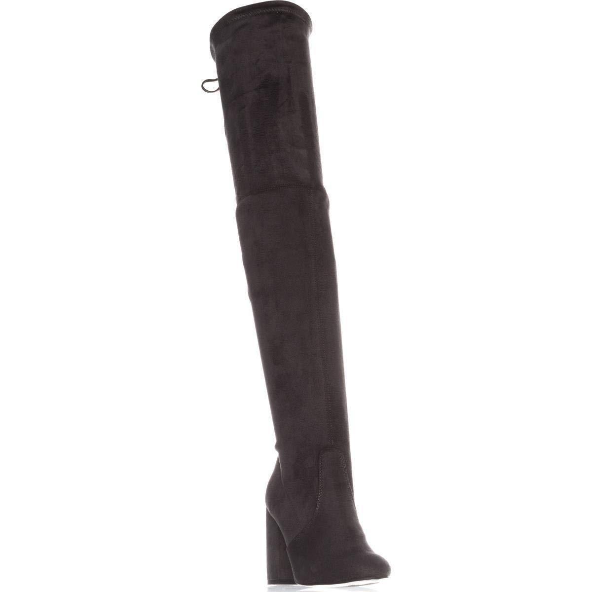 Steve Steve Steve Madden Para Mujer Norri estiramiento cubierto al muslo botas Altas, gris, Talla 11.0 c48810
