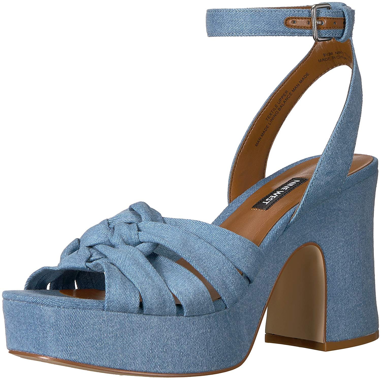 Nine Open West Damenschuhe fetuchini Fabric Open Nine Toe Casual Ankle Strap Sandales 3f6ae9