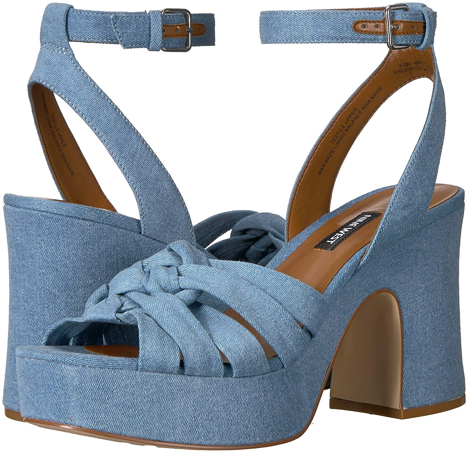 Nine Toe West Damenschuhe fetuchini Fabric Open Toe Nine Casual Ankle Strap Sandales bddf83