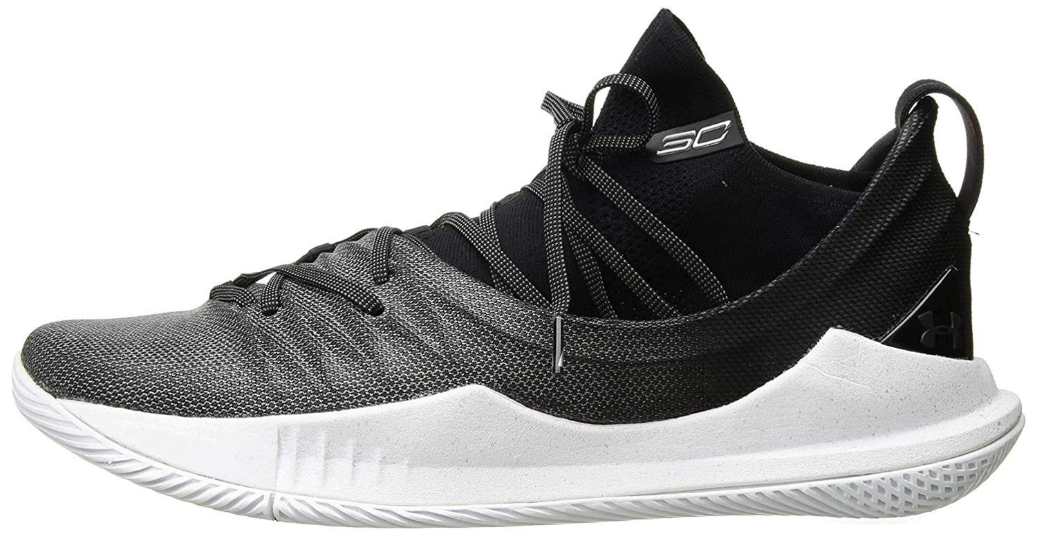 Under-Armour-Men-039-s-Curry-5-Basketball-Shoe-White-101-Black-Size-12-5-gyRp
