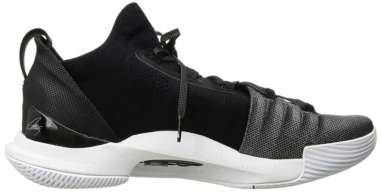 Under-Armour-Men-039-s-Curry-5-Basketball-Shoe-White-101-Black-Size-12-5-gyRp thumbnail 3
