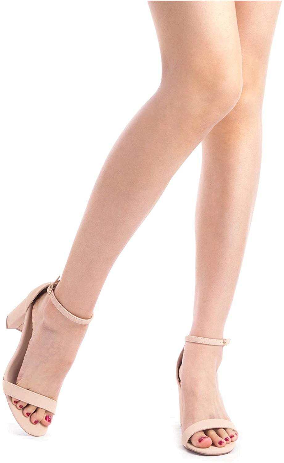 DREAM PAIRS Womens 60639-HHER-PINK SUEDE-SZ-6 Satin Peep