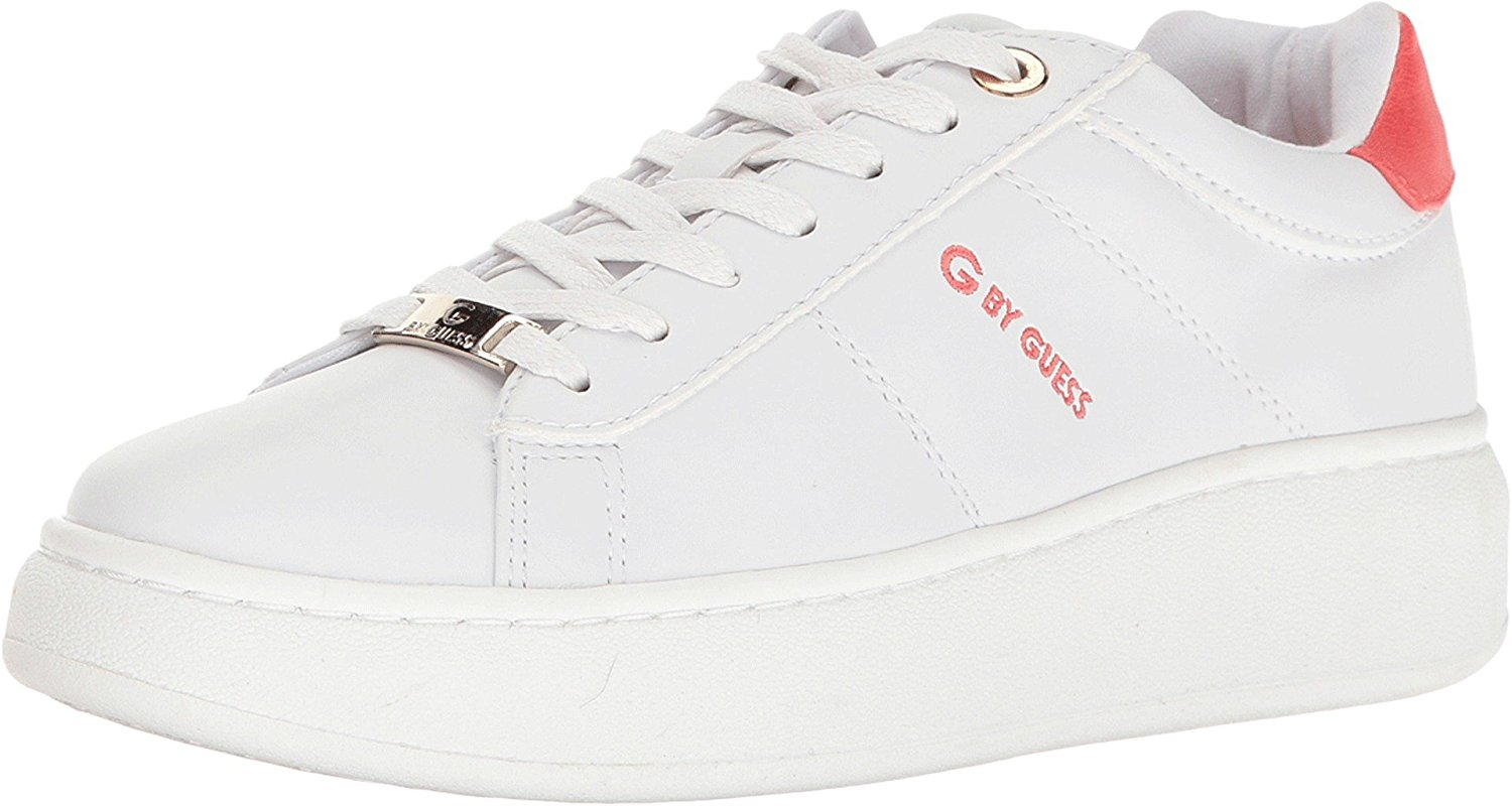 G By Guess Charly da Donna Fashion Scarpe da ginnastica White/Coral 8.5 US/6.5 UK