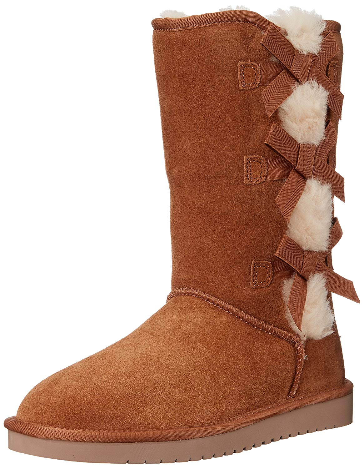 ebdfc96fb9a Details about Koolaburra by UGG Womens 1015875 Leather Round Toe Mid-Calf  Cold Weather Boots