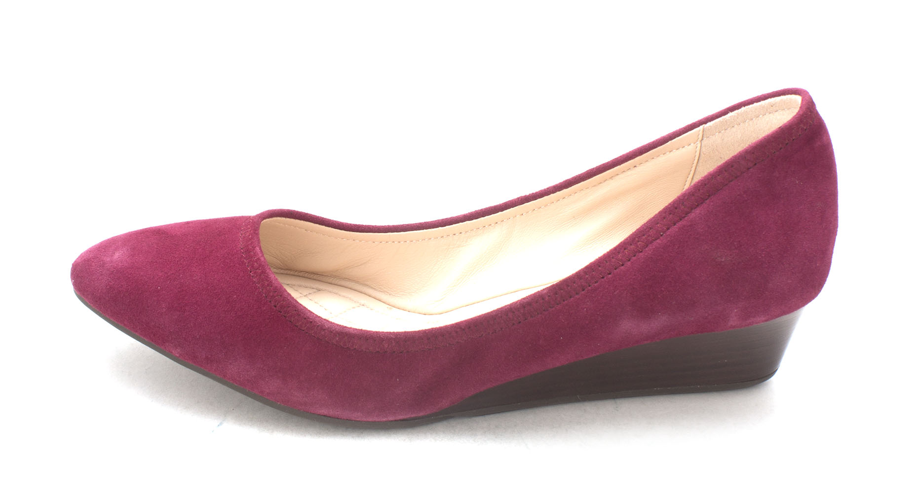 Cole Haan Womens Rosemariesam Closed Toe Wedge Pumps Purple Size 6.0