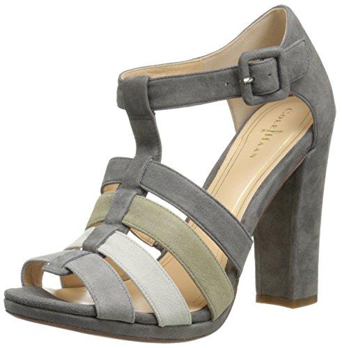 Cole Haan Womens Chelsea TStrap Sandal Grey Suede Size 95