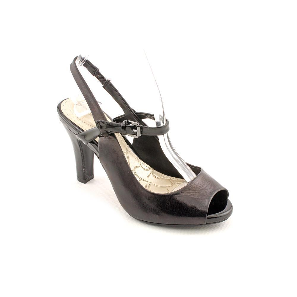 Giani Bernini Womens viviana Peep Toe Ankle Strap Classic Pumps Black Size 5.0