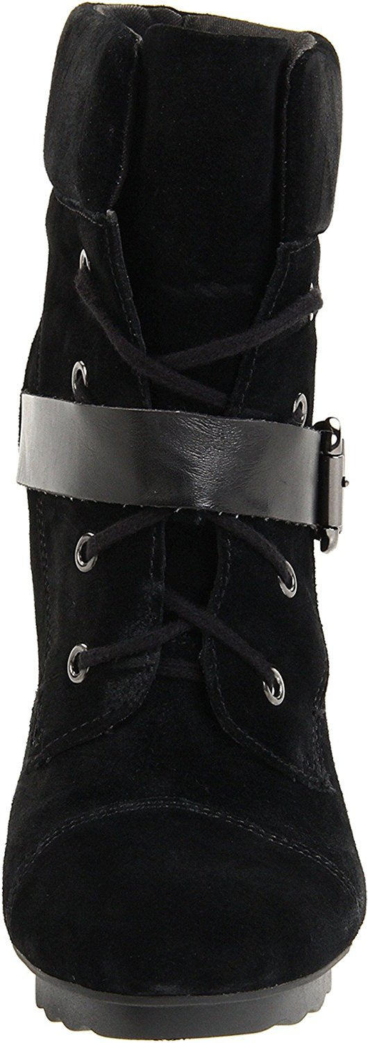 Guess Fontanna Women Suede Ankle Boot Black Size 8.0 Iq8G