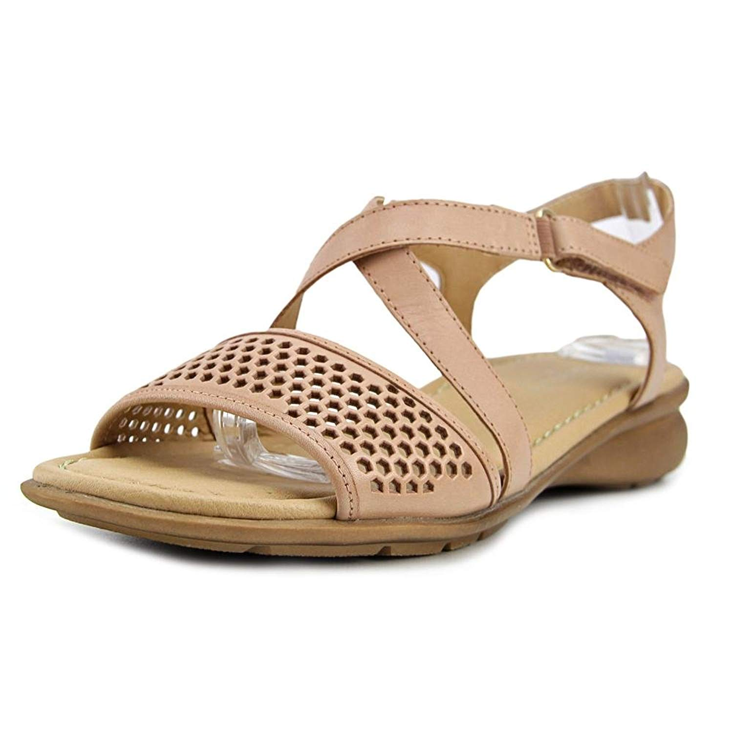 f7c065f9042f Naturalizer Womens Juniper Leather Open Toe Casual Slide Sandals