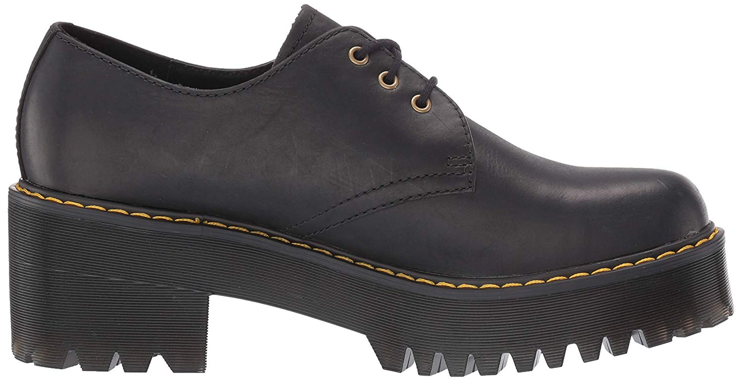 Details about Dr. Martens Women's Shriver Lo Platform, Black, Size 10.0 82xT US 8 UK