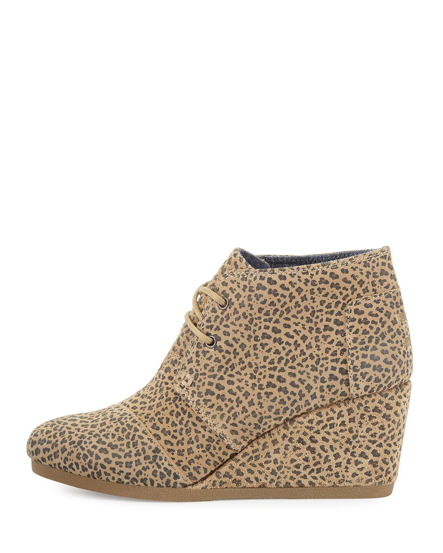 3870a8dfbfd Toms Desert Wedge Womens Platform Sandals Cheetah Suede 10 US   8 UK ...
