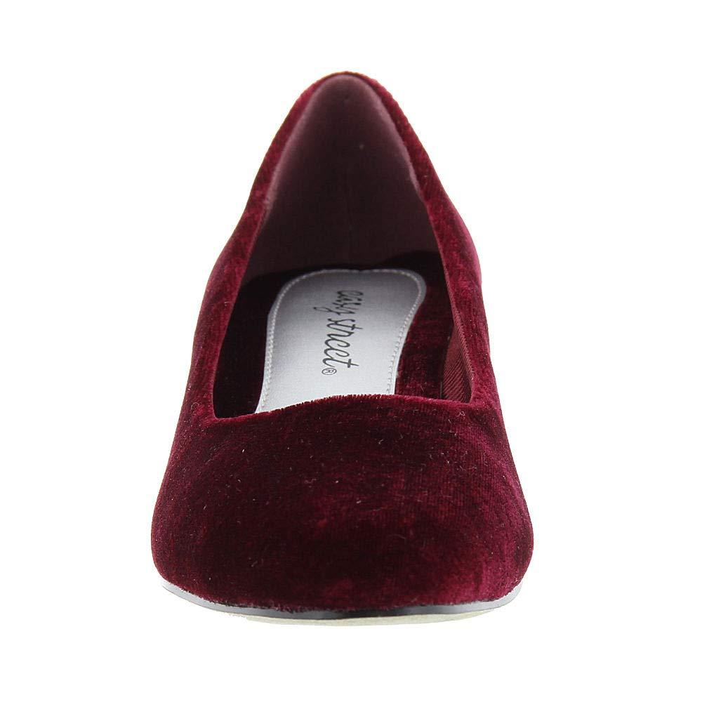 baaa50396d Easy Street Halo Womens Heels & Pumps Burgundy/Velvet 9 US / 7 UK ...