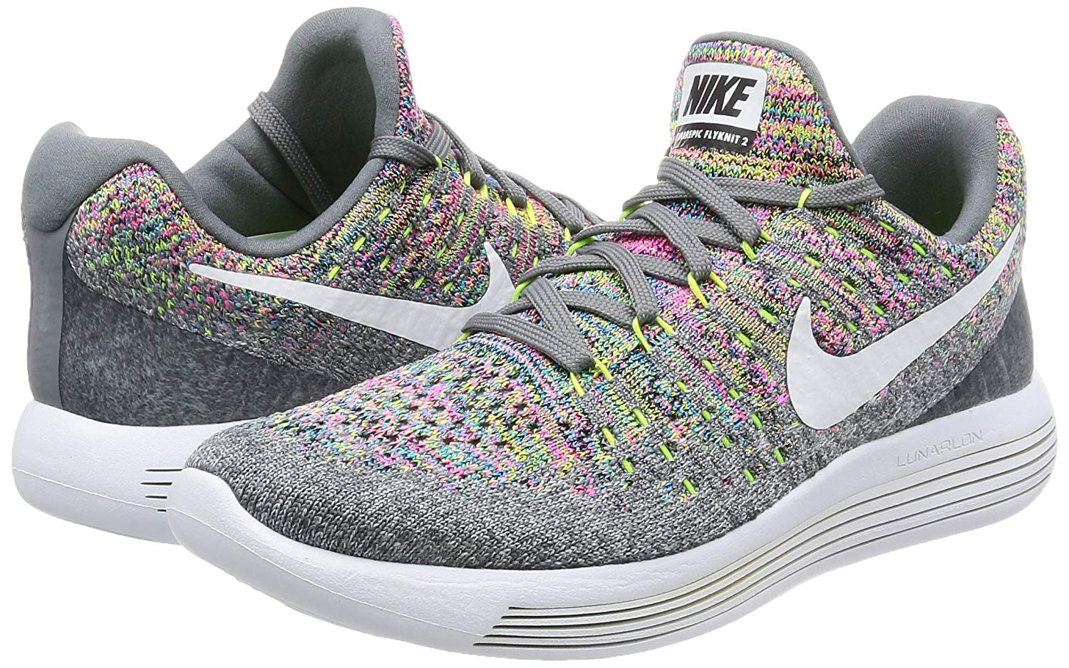 f078803f2d251 Details about Nike Womens Lunarepic Low Flyknit 2 Fabric Low Top Lace Up  Running Sneaker