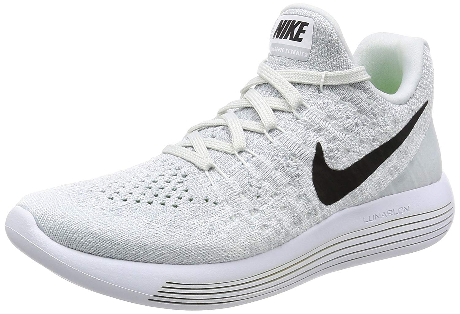 d71482b87 Nike Womens Lunarepic Low Flyknit 2 Fabric Low Top Lace Up Running Sneaker