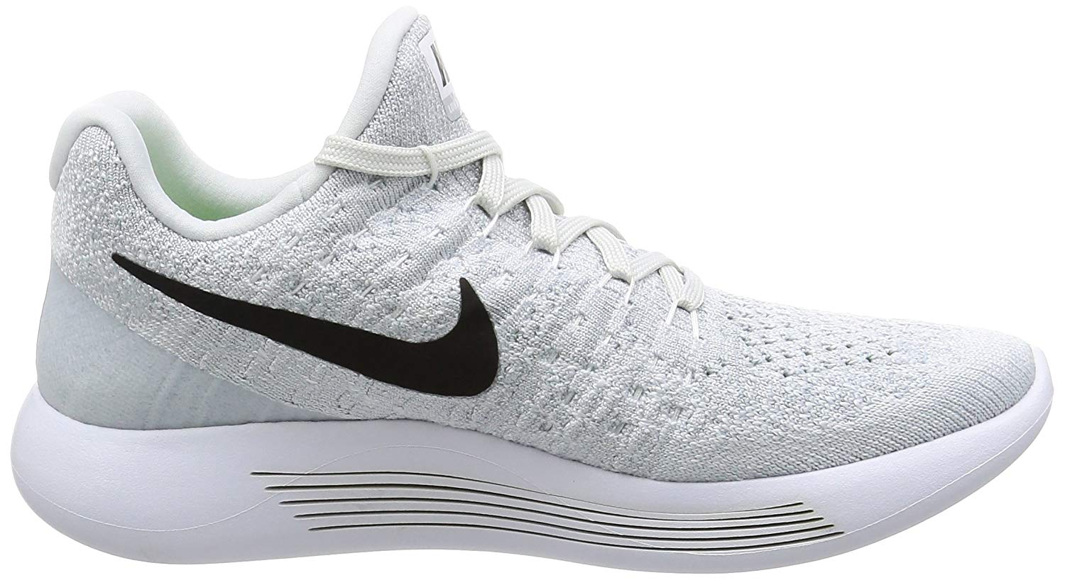 e414b10b3a26d Nike Womens Lunarepic Low Flyknit 2 Fabric Low Top Lace Up Running ...
