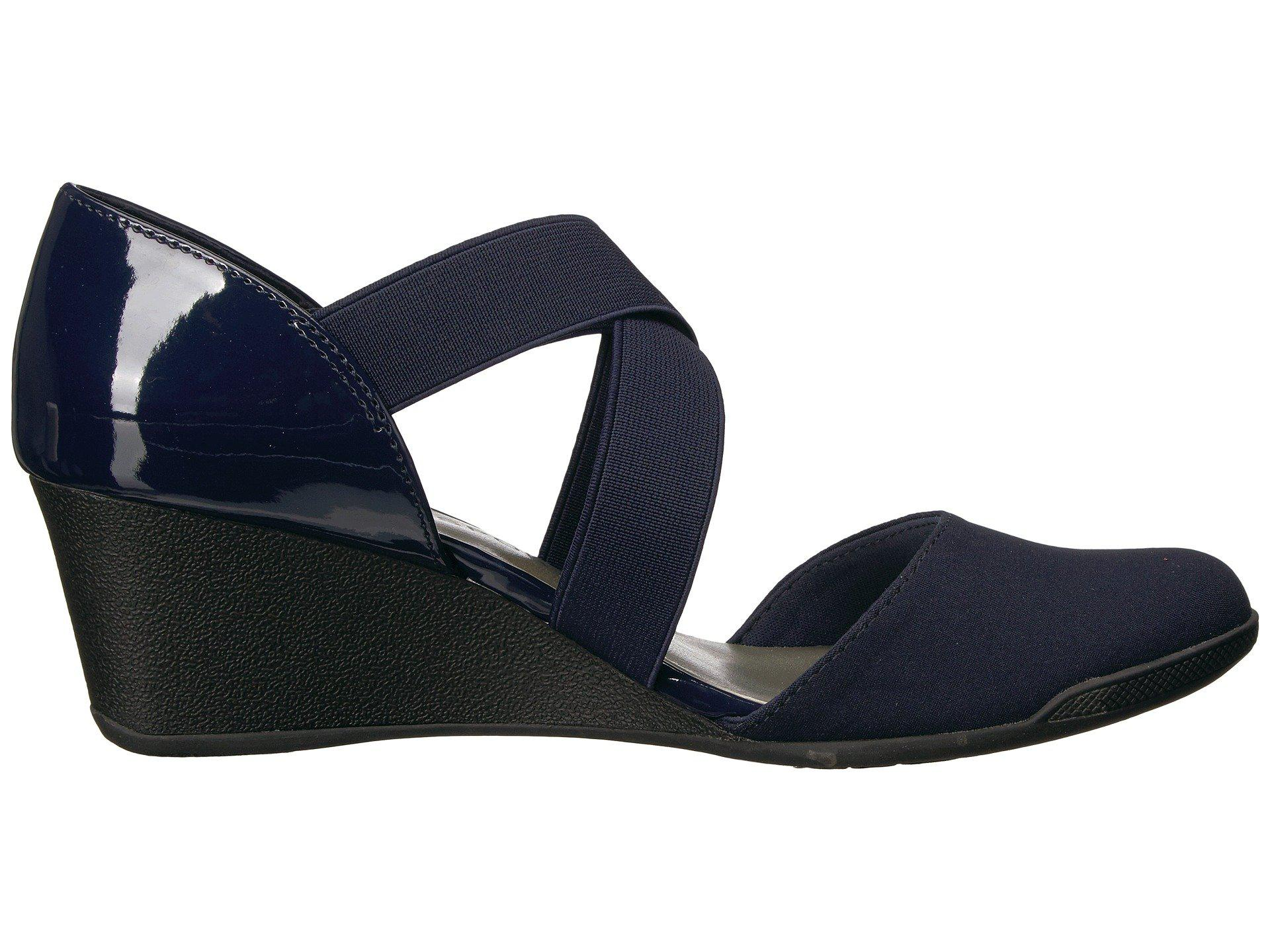 9ff28dc35fb Anne Klein Womens Teaberry Fabric Closed Toe Casual Platform Sandals ...