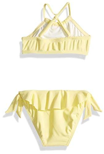 Seafolly Girls High Neck Tankini Swimsuit with Criss Cross Back