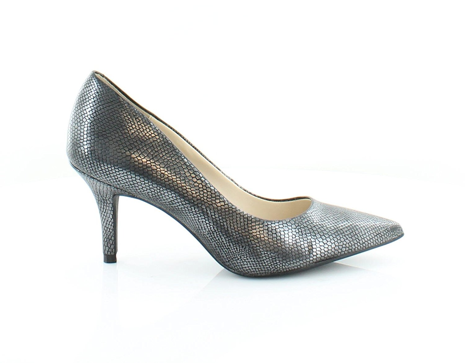 Alfani Womens Jeules Pointed Toe Classic Pumps Pewter Size 7.0