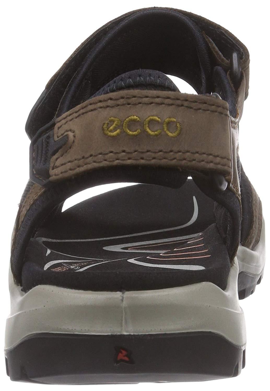 Details about ECCO Mens Offroad Open Toe Sport, EspressoCocoa BrownBlack, Size 10.0