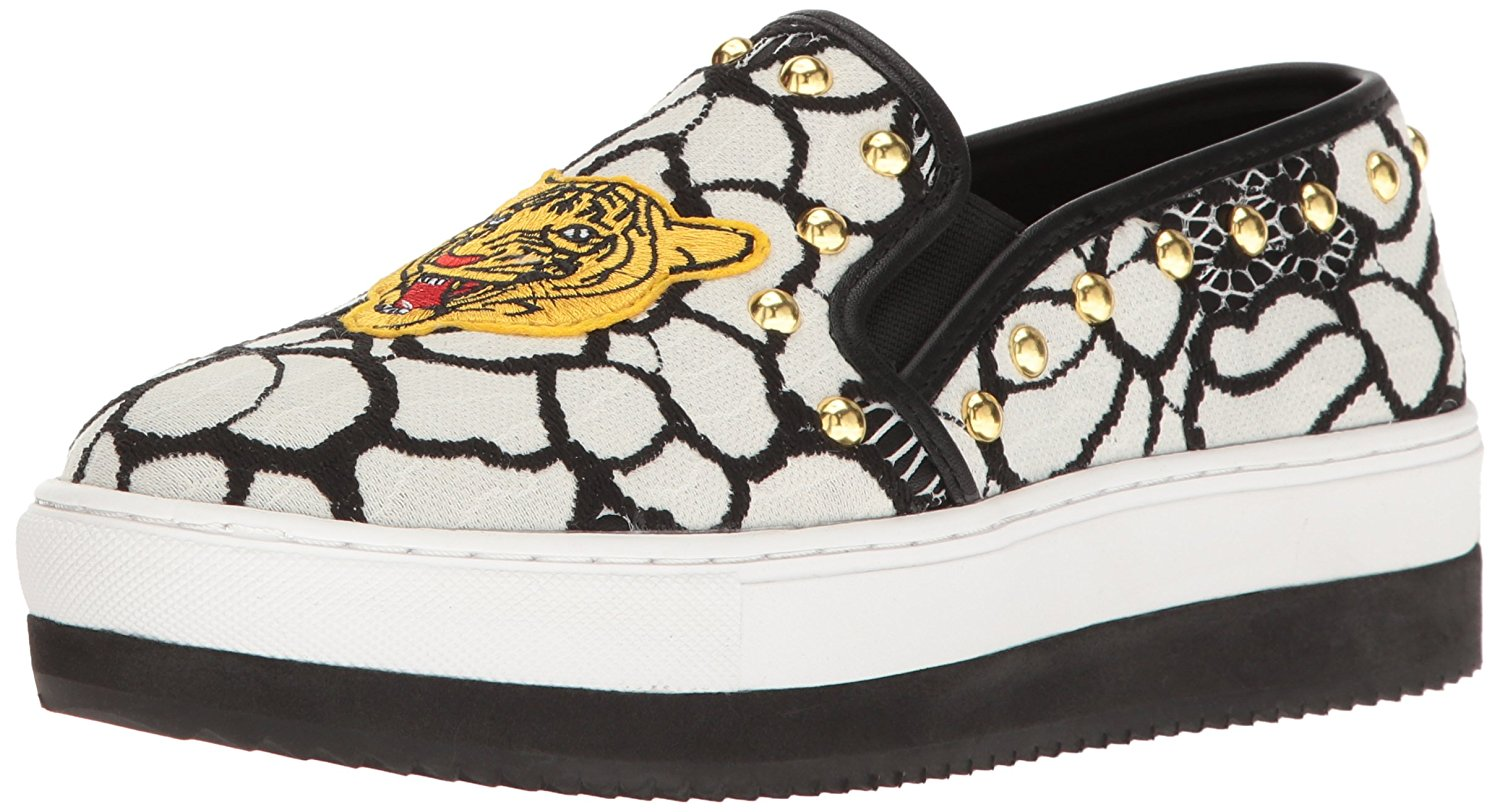 6282e6a5c75 Details about Steve Madden Womens Slick-p Fabric Low Top Slip On,  Black/Multi, Size 8.0