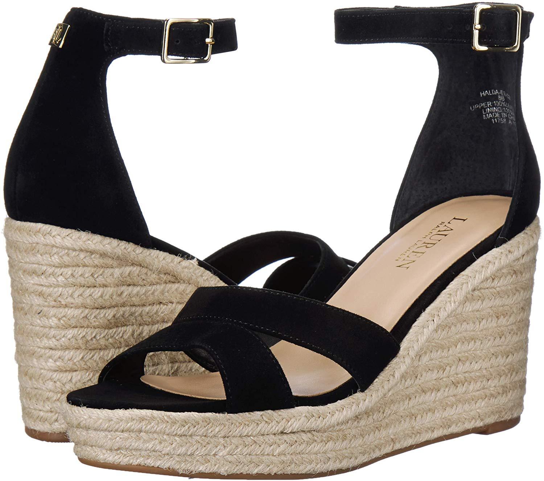 Lauren By Ralph Lauren Cecilia Espadrille Wedge Sandals in