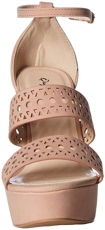 d126e58e135 Details about Qupid Women's Espadrille Wedge Sandal, Tan, Size 10.0