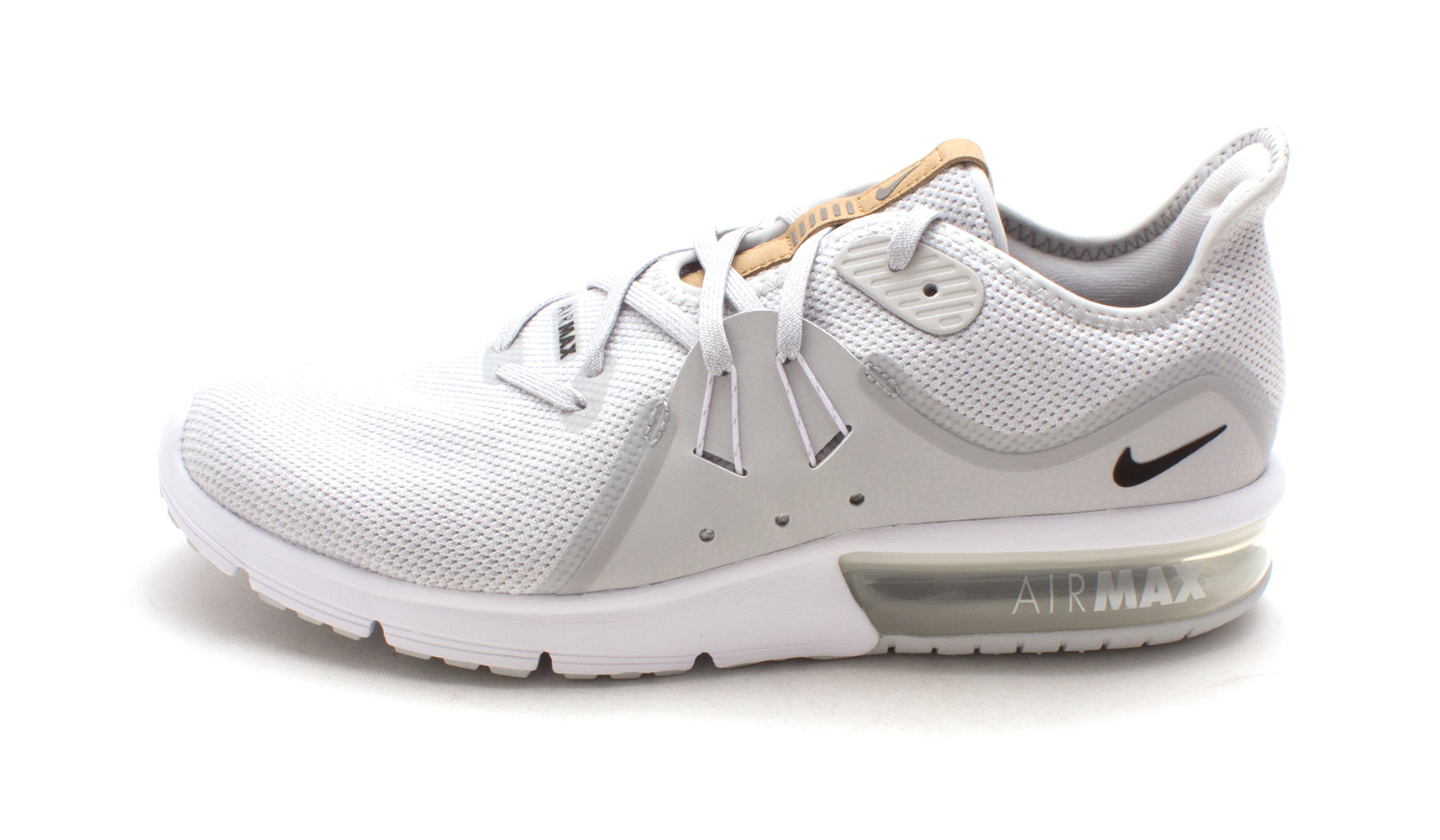 2ab695813d Details about Nike Womens Air Max Sequent 3 Low Top Lace, Pure Platinum/Black-White,  Size 8.5